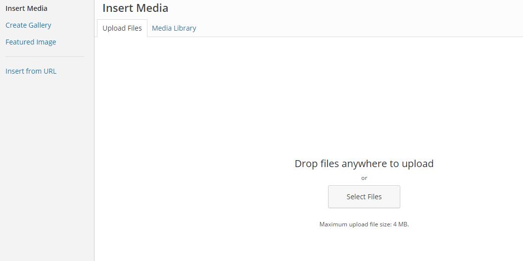 Insert Media into WordPress post