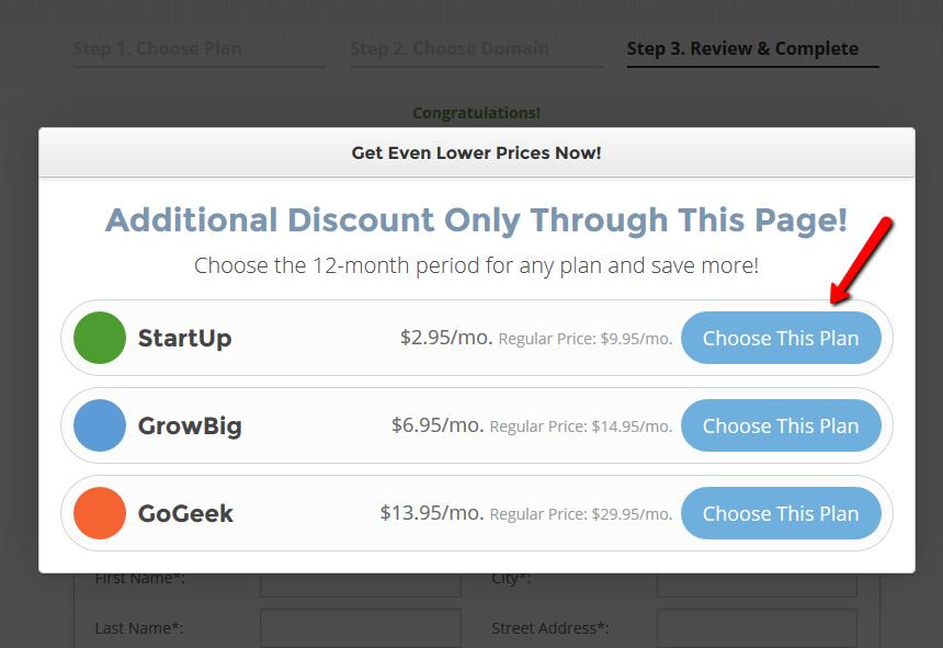 SiteGround extra discount