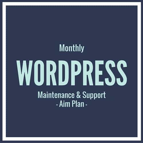 WordPress Support Aim Plan