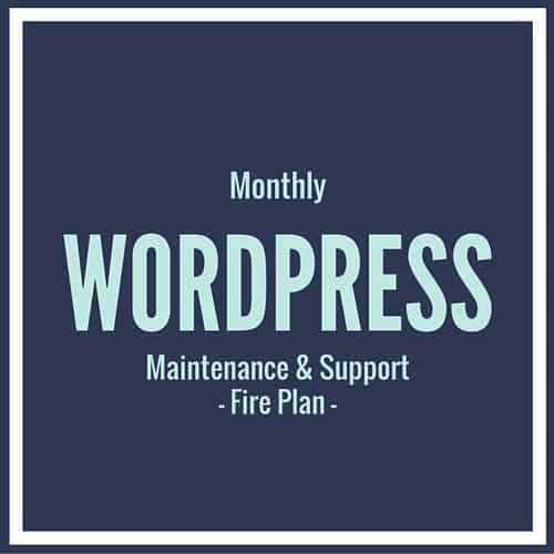 Wordpress support fire plan