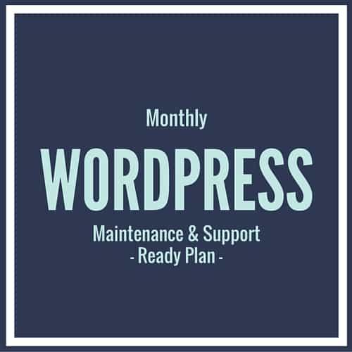WordPress Support Ready Plan
