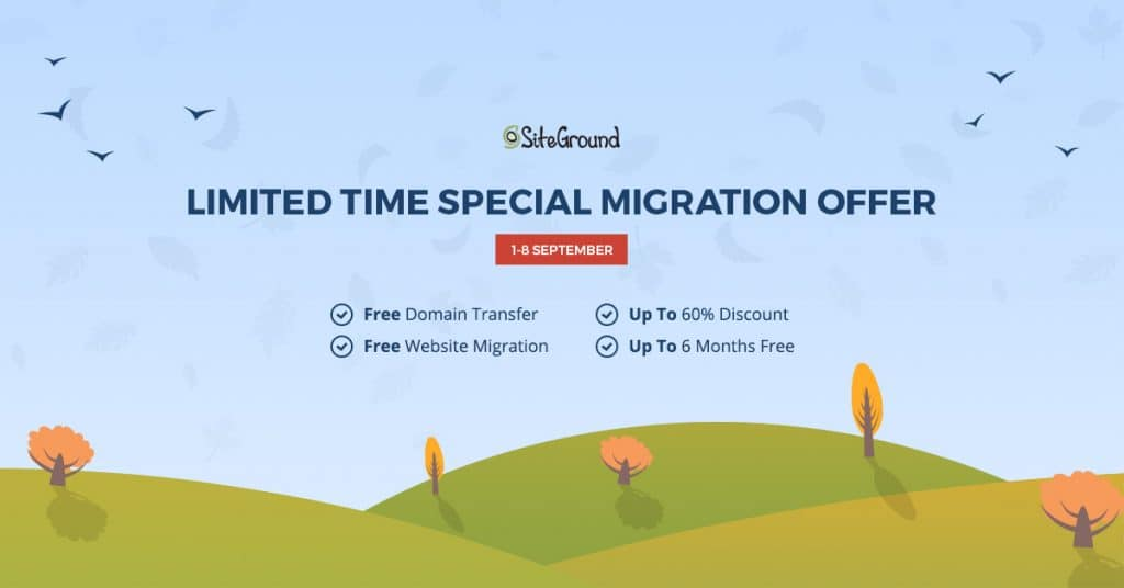 SiteGround Migration Special