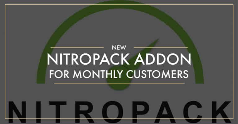 New NitroPack Add-on For Our Monthly Support Customers